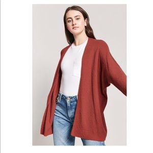 • RUST RED CARDIGAN • FOREVER 21 •